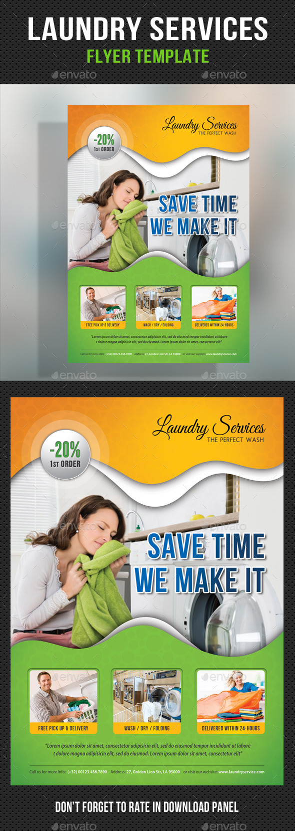 Laundry services flyer template by rapidgraf graphicriver for Laundry flyers templates