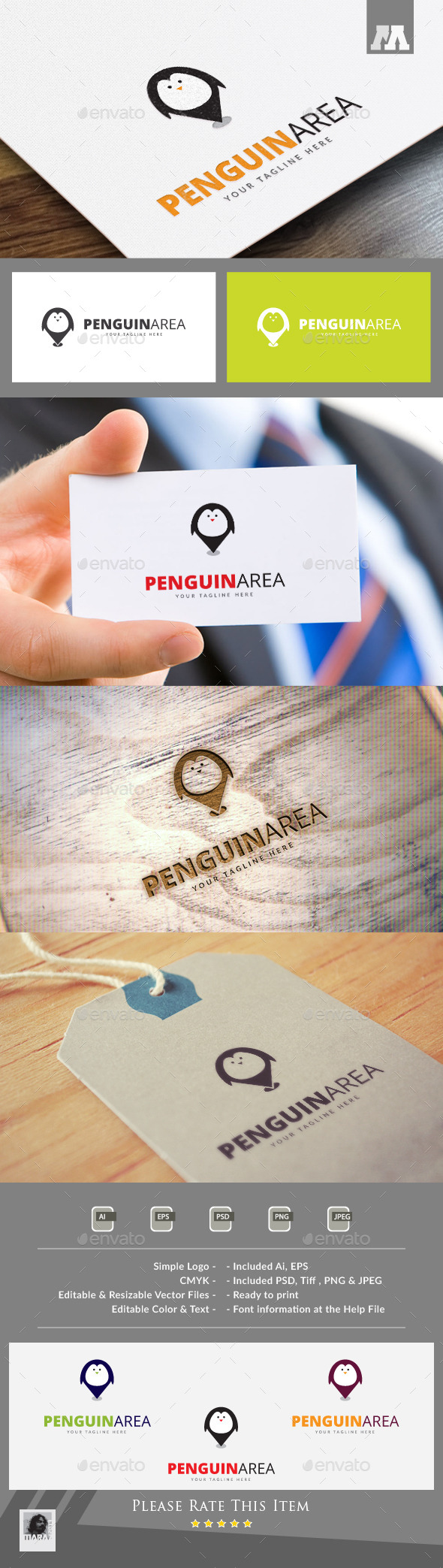Penguin Area Logo Template