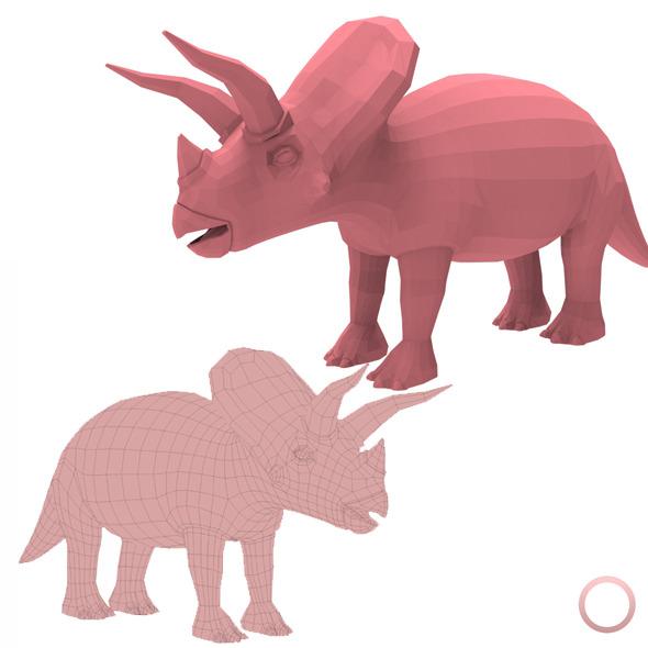 Triceratops Base Mesh - 3DOcean Item for Sale