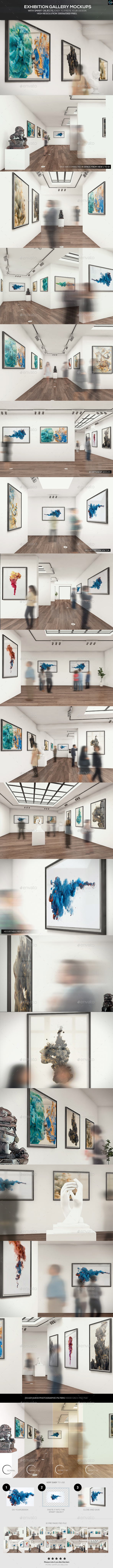 Exhibition Gallery Mockups - Posters Print