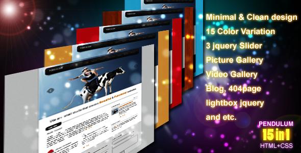 Free Download Pendulum - Premium Template 15 in 1 Nulled Latest Version