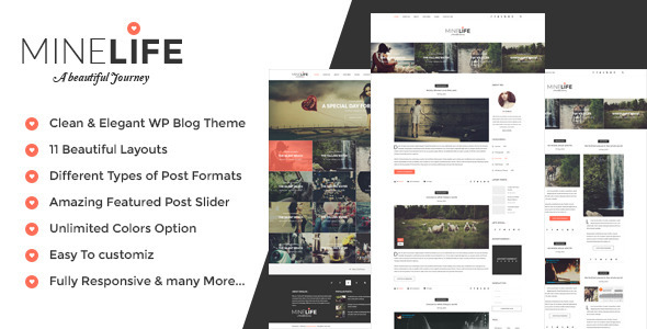 MineLife – Elegant WordPress Personal Blog Theme