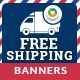 Free Shipping Banners - GraphicRiver Item for Sale