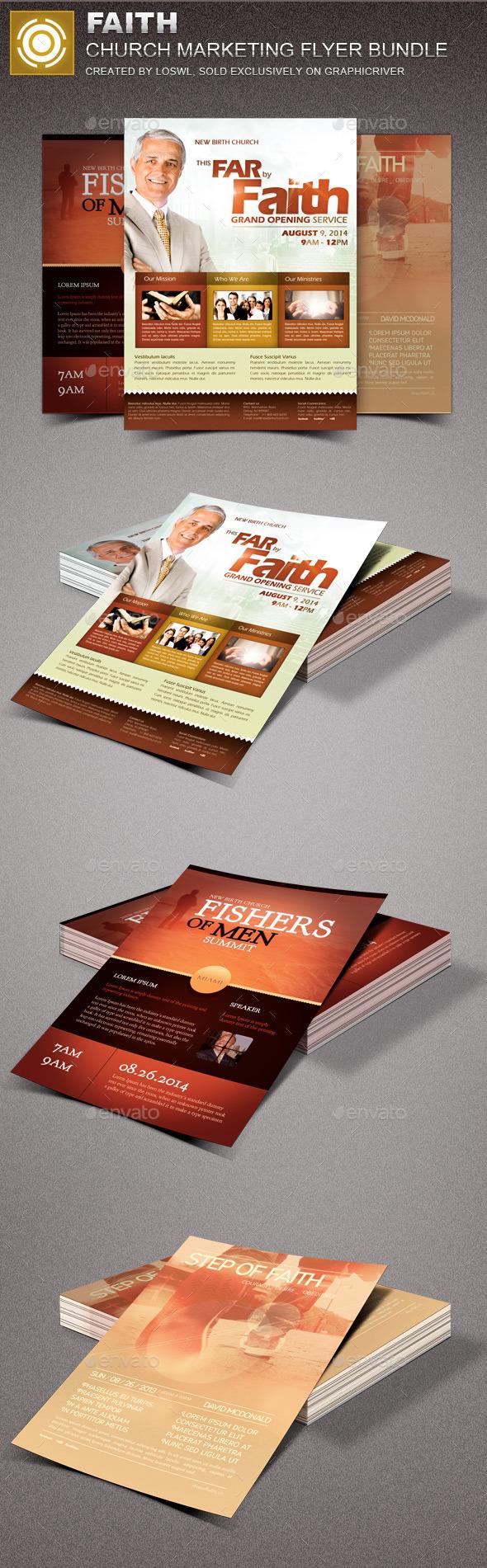 Faith Church Marketing Flyer Bundle  - Church Flyers