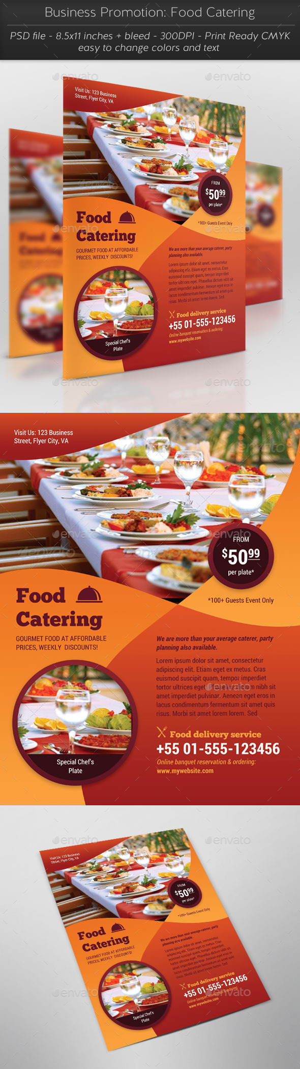 Business Promotion: Food Catering - Restaurant Flyers