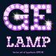 Festive Purple Vector Lamp Alphabet - GraphicRiver Item for Sale