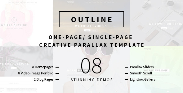 Outline Creative One Page Single Page Portfolio