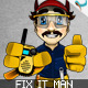 Animatable Fix It Man Mascot Character Kit - GraphicRiver Item for Sale