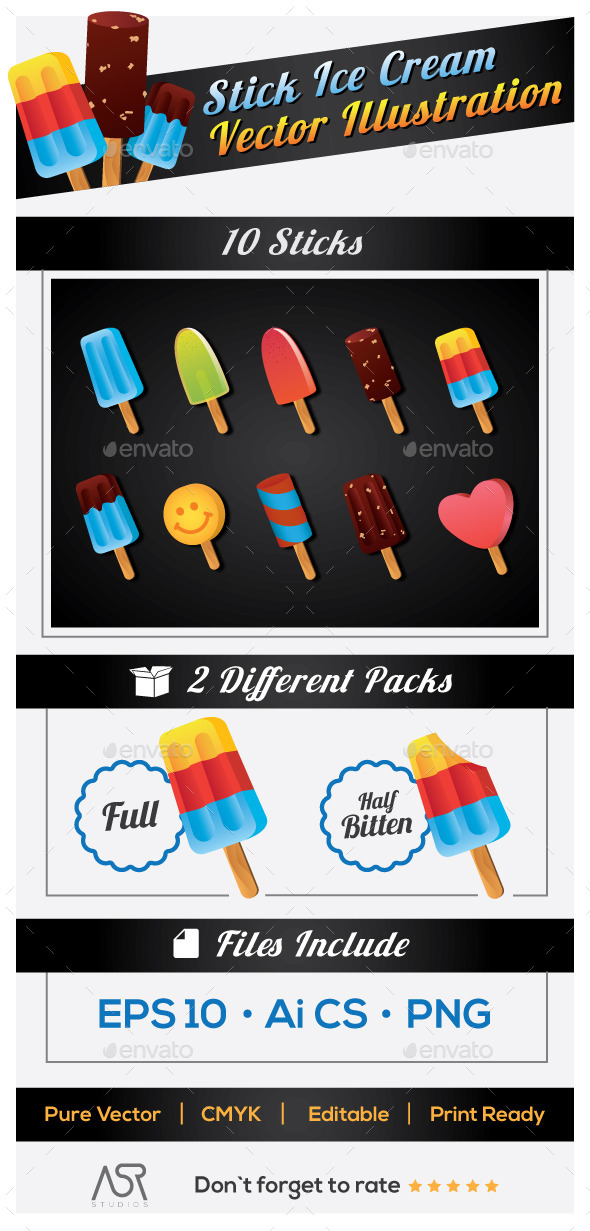 Popsicles Vector Pack
