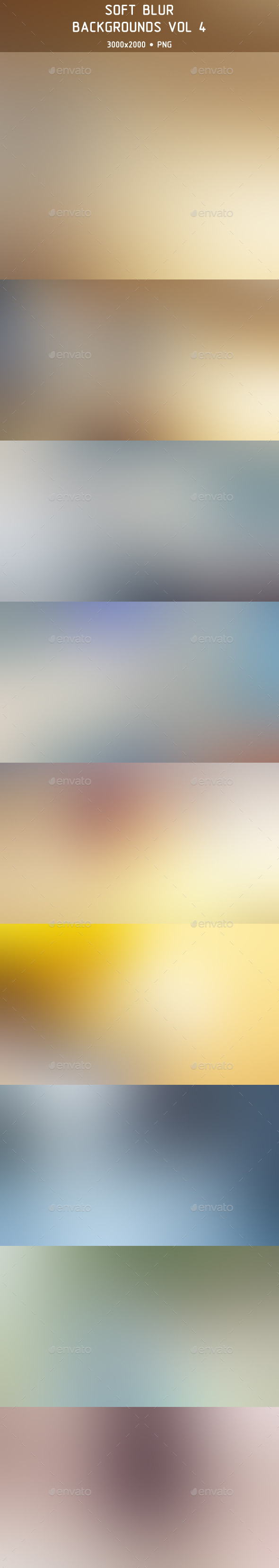 Soft Blur Backgrounds Vol 4 - Abstract Backgrounds