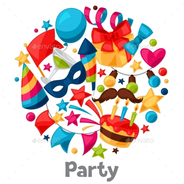 Carnival Show And Party Greeting Card