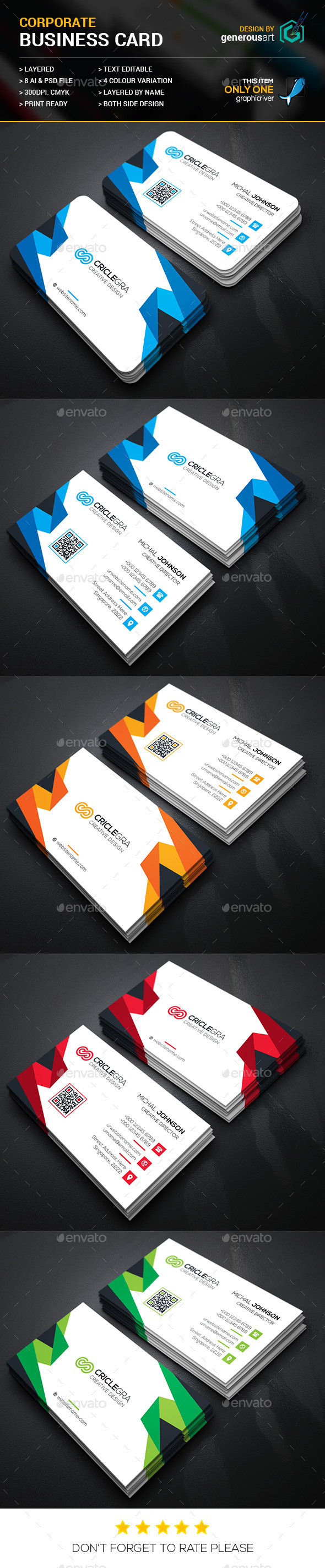 Criclegra Business Card - Corporate Business Cards
