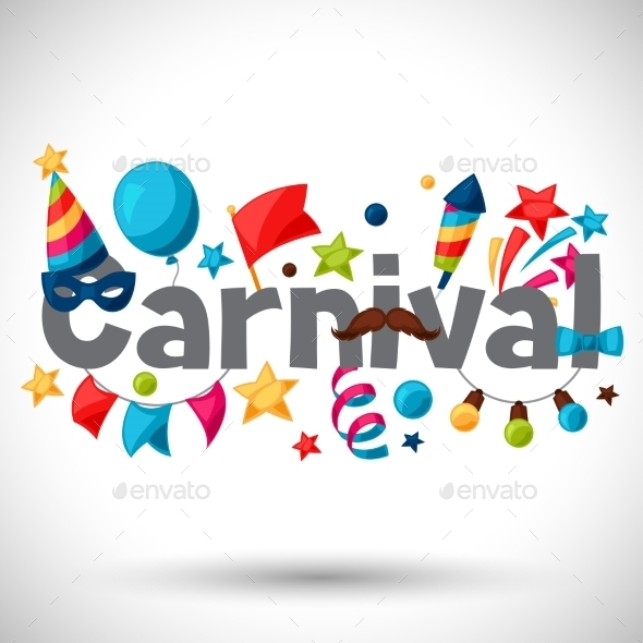 Carnival Show And Party Greeting Card - Seasons/Holidays Conceptual
