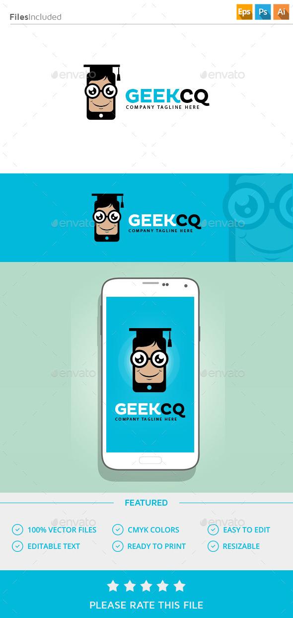 Geek Mobile App Logo - Vector Abstract