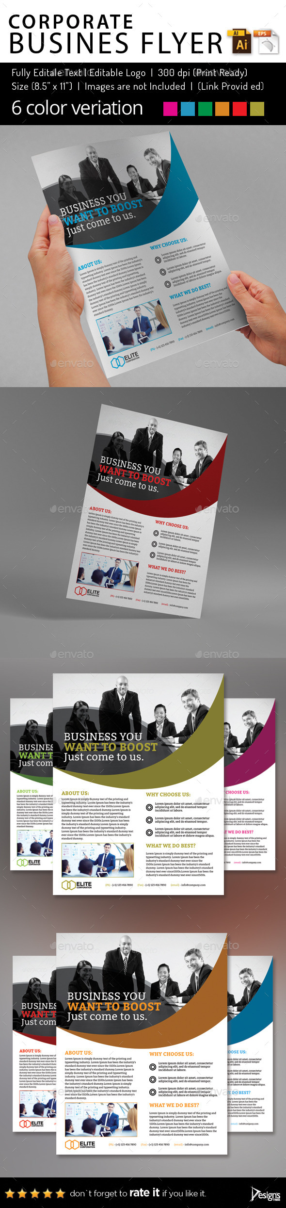 Multipurpose Business Flyer 65 - Corporate Flyers