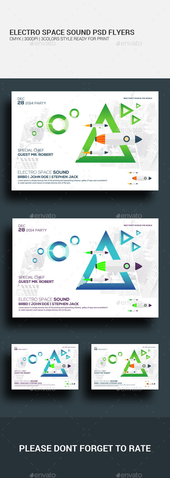 Space Sound Flyer Psd Template - Clubs & Parties Events