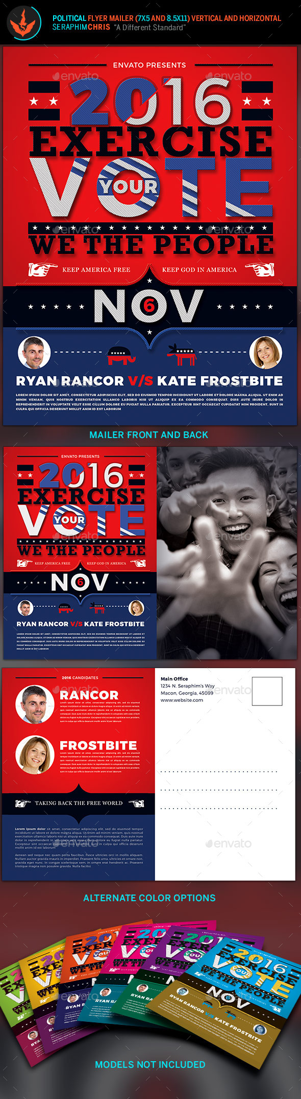 Exercise Your Vote Political Flyer & Mailer Template - Corporate Flyers