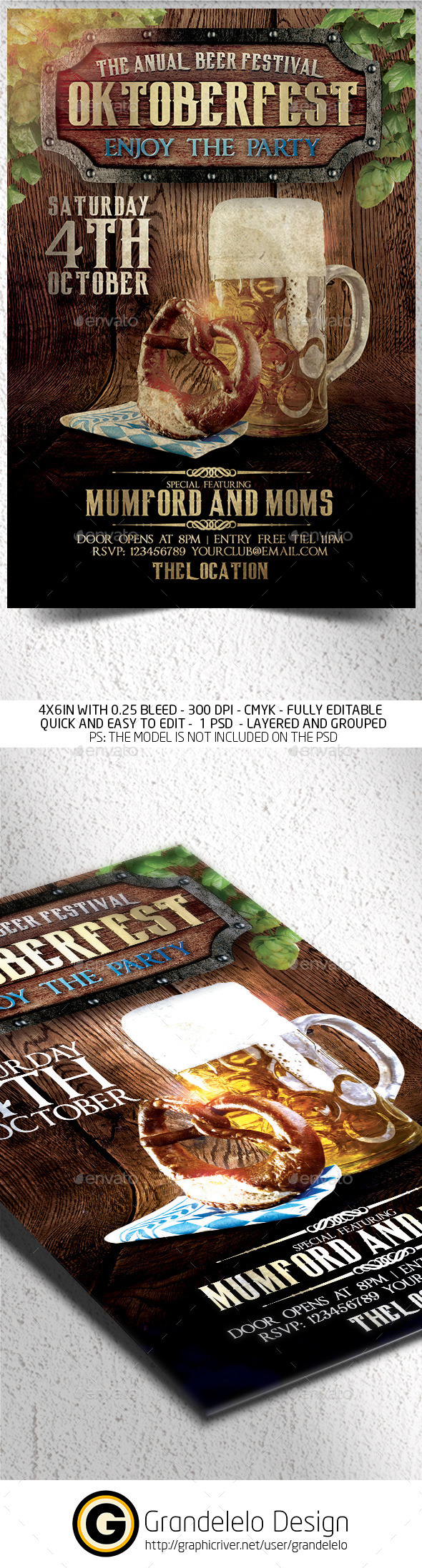 The Oktoberfest Flyer Template - Clubs & Parties Events