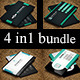 4 in 1 Business Card Bundle - GraphicRiver Item for Sale