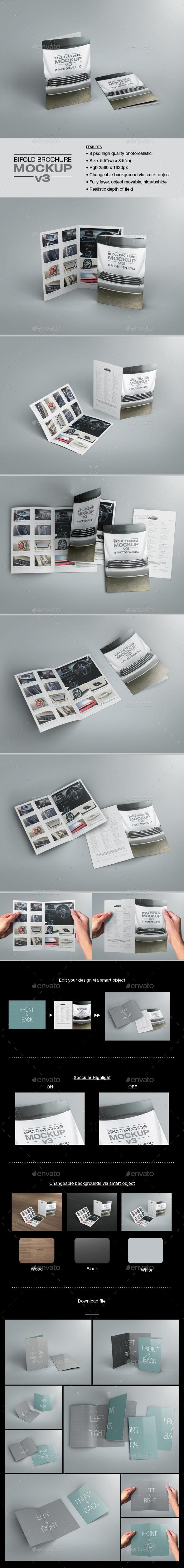 Bifold Brochure Mock-up 03 - Brochures Print