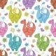 Seamless Pattern, Cartoon Colorful Dragons - GraphicRiver Item for Sale
