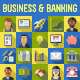 Business and Banking Flat Icons with Long Shadow - GraphicRiver Item for Sale