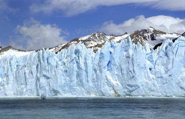 Perito Moreno Ice Wall - Stock Photo - Images