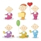 Cartoon Children With Toys - GraphicRiver Item for Sale