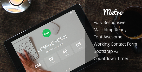 Metro - Coming Soon Responsive Template - Specialty Pages Site Templates