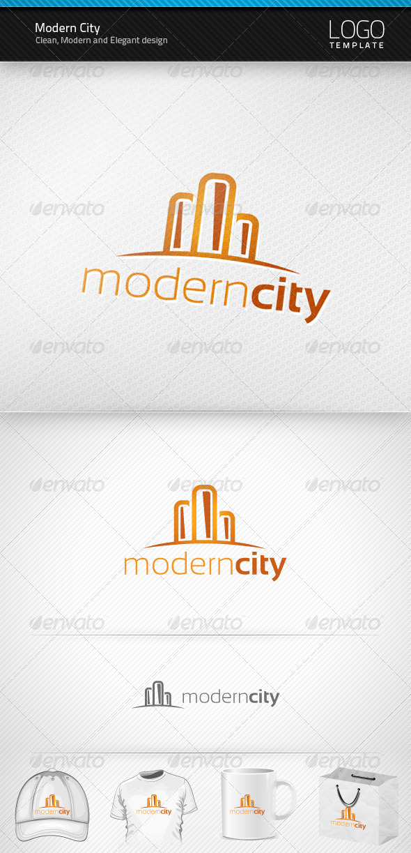 Modern City Logo - Buildings Logo Templates
