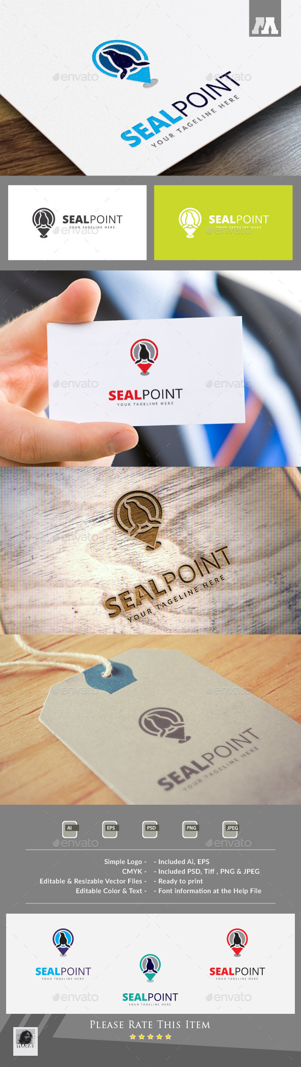 Seal Point Logo Template - Animals Logo Templates