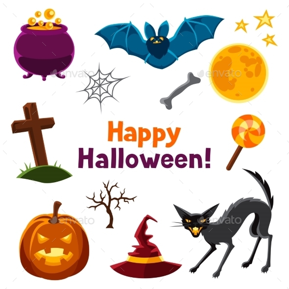 Happy Halloween Seamless Pattern With Characters