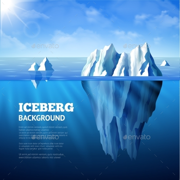 Iceberg Background Illustration - Nature Conceptual