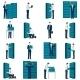 Flat Datacenter Icons Set - GraphicRiver Item for Sale