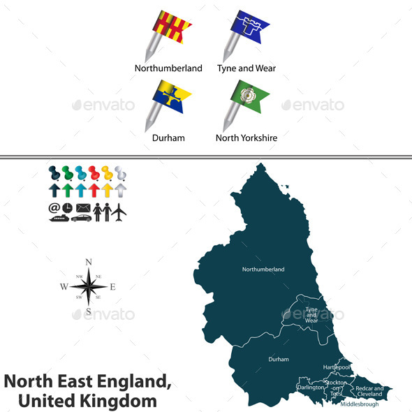 North East England, United Kingdom - Travel Conceptual