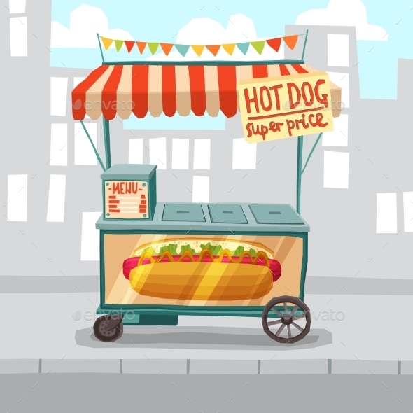 Hot Dog Street Shop - Food Objects