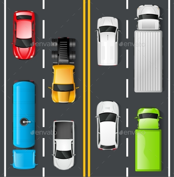 Traffic Top View - Miscellaneous Vectors