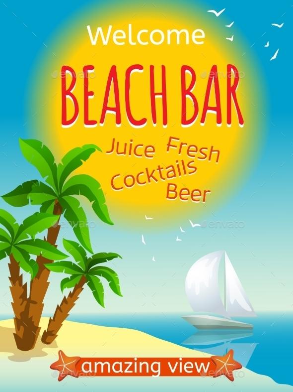 Beach Bar Poster - Travel Conceptual