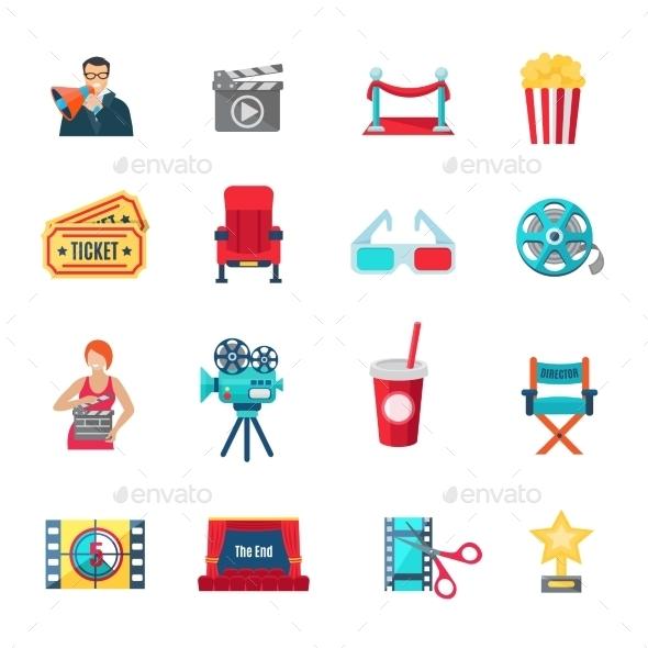 Filmmaking Icons Set  - Miscellaneous Vectors