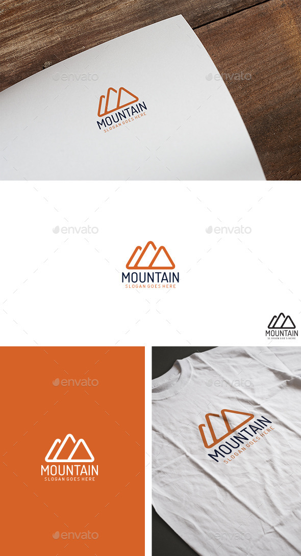 Mountain Classic Logo - Nature Logo Templates