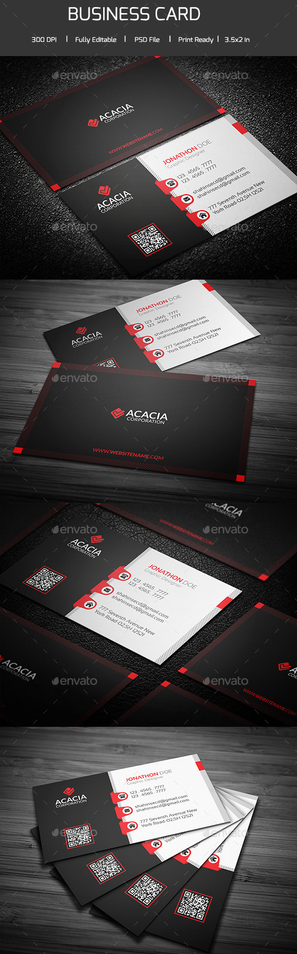 Acta Business Card - Corporate Business Cards