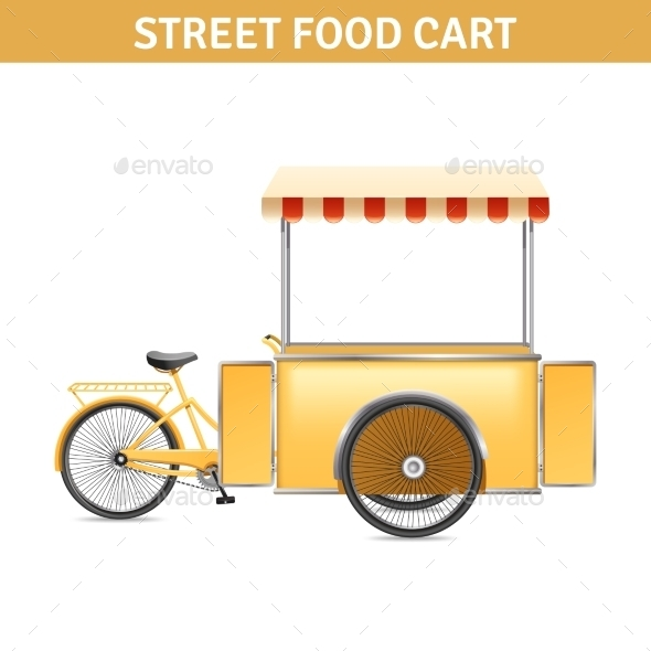 Street Food Cart Illustration