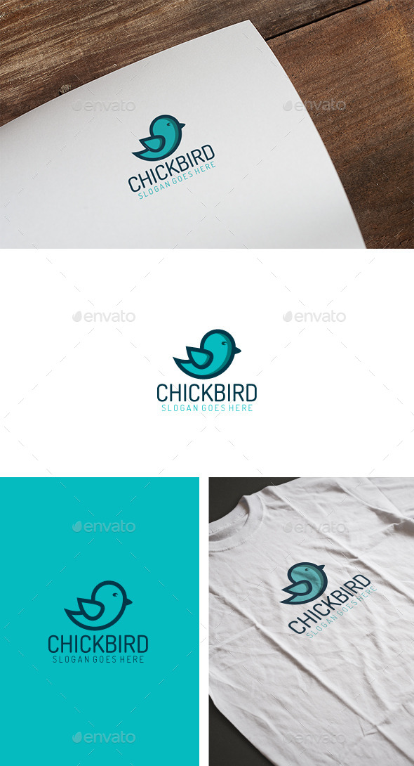 Chick Bird Logo - Animals Logo Templates