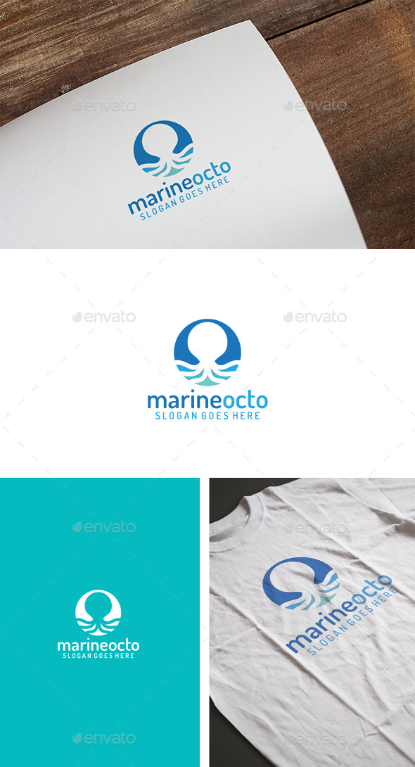 Marine Octopus Logo - Animals Logo Templates