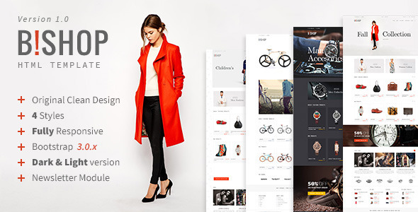 Bishop - Modern Shop Template - Shopping Retail