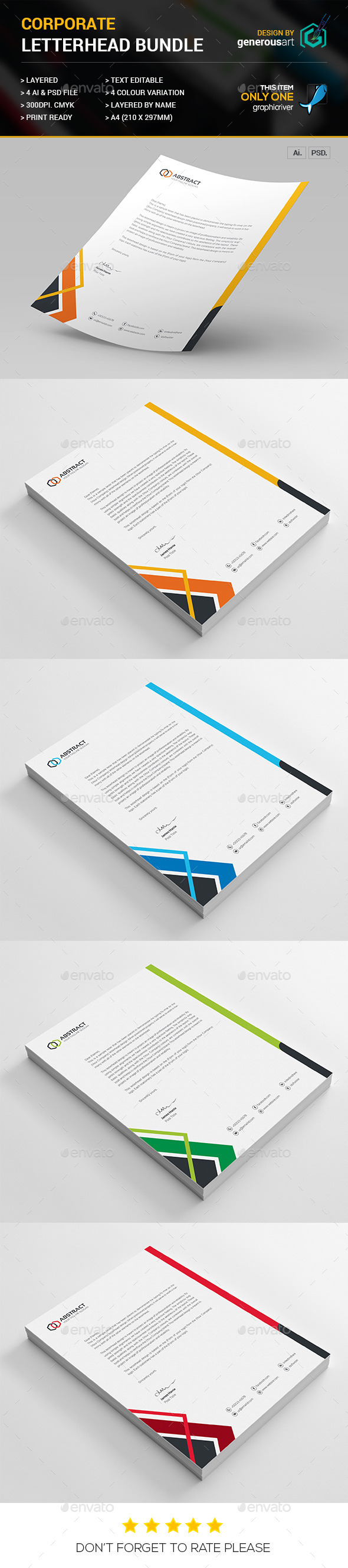 Corporate Letterhead Vol_19 - Stationery Print Templates