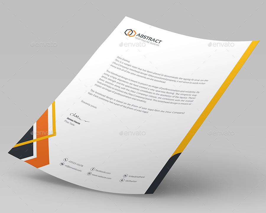 Corporate Letterhead Vol By Generousart  Graphicriver