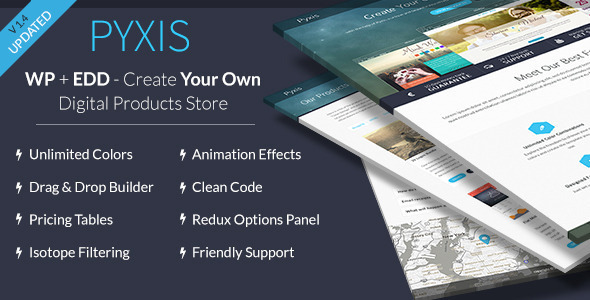 Pyxis - A Creative Digital Products Shop & Blog - eCommerce WordPress