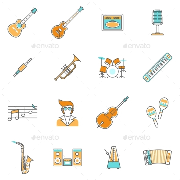 Music Icons Line Set - Miscellaneous Vectors
