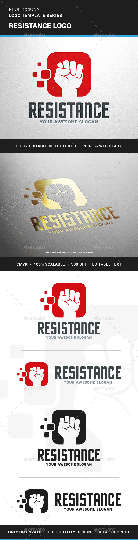 Resistance Logo Template